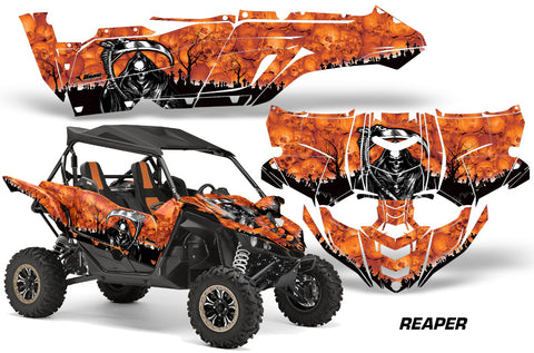 UTV Decal Graphic Kit Side By Side Wrap For Yamaha YXZ 1000R 2015-2018 REAPER ORANGE