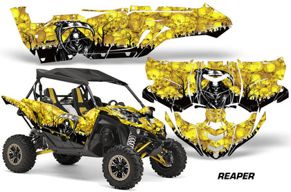 UTV Decal Graphic Kit Side By Side Wrap For Yamaha YXZ 1000R 2015-2018 REAPER YELLOW