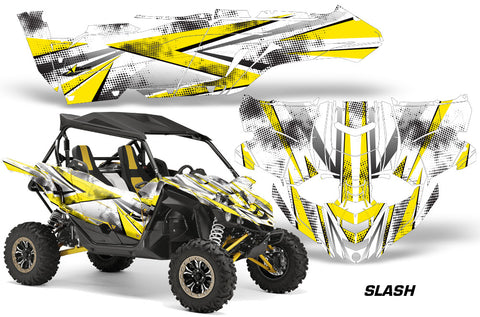 UTV Decal Graphic Kit Side By Side Wrap For Yamaha YXZ 1000R 2015-2018 SLASH YELLOW