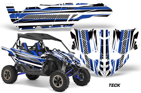 UTV Decal Graphic Kit Side By Side Wrap For Yamaha YXZ 1000R 2015-2018 TECK BLUE