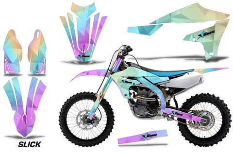 Dirt Bike Decal Graphics Kit MX Sticker Wrap For Yamaha YZ450F 2018+ SLICK