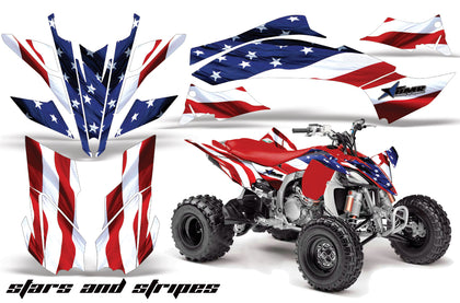 ATV Graphics Kit Decal Sticker Wrap For Yamaha YFZ450R/SE 2009-2013 USA FLAG-atv motorcycle utv parts accessories gear helmets jackets gloves pantsAll Terrain Depot