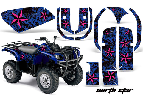 ATV Graphics Kit Quad Decal Wrap For Yamaha Grizzly YFM 660 2002-2008 NORTHSTAR PINK BLUE