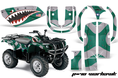 ATV Graphics Kit Quad Decal Wrap For Yamaha Grizzly YFM 660 2002-2008 WARHAWK GREEN