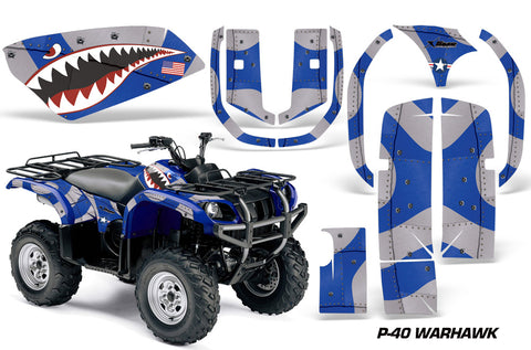 ATV Graphics Kit Quad Decal Wrap For Yamaha Grizzly YFM 660 2002-2008 WARHAWK BLUE