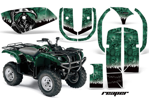 ATV Graphics Kit Quad Decal Wrap For Yamaha Grizzly YFM 660 2002-2008 REAPER GREEN