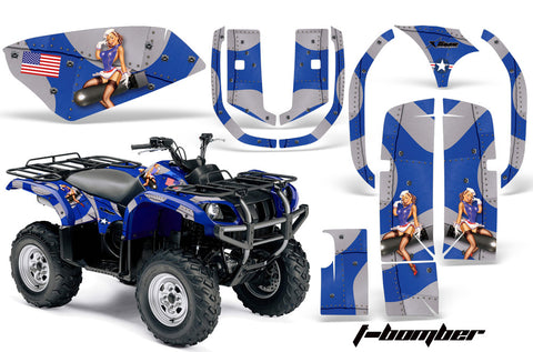 ATV Graphics Kit Quad Decal Wrap For Yamaha Grizzly YFM 660 2002-2008 TBOMBER BLUE