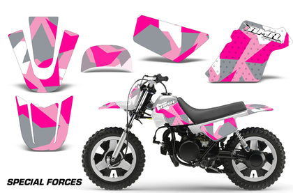 Dirt Bike Graphics Kit MX Decal Wrap For Yamaha PW50 PW 50 1990-2019 SPECIAL FORCES PINK-atv motorcycle utv parts accessories gear helmets jackets gloves pantsAll Terrain Depot