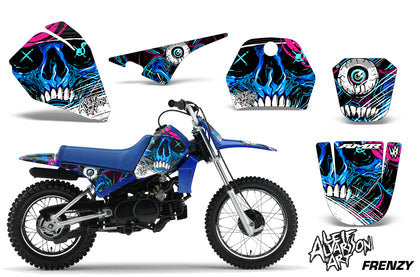 Dirt Bike Decal Graphic Kit Sticker Wrap For Yamaha PW80 PW 80 1996-2006 FRENZY BLUE-atv motorcycle utv parts accessories gear helmets jackets gloves pantsAll Terrain Depot