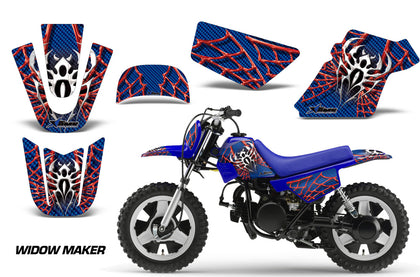 Dirt Bike Graphics Kit MX Decal Wrap For Yamaha PW50 PW 50 1990-2019 WIDOW RED BLUE-atv motorcycle utv parts accessories gear helmets jackets gloves pantsAll Terrain Depot