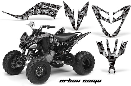 ATV Decal Graphic Kit Quad Sticker Wrap For Yamaha Raptor 250 2008-2014 URBAN CAMO BLACK