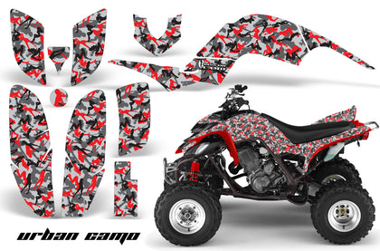 ATV Decal Graphics Kit Quad Sticker Wrap For Yamaha Raptor 660 2001-2005 URBAN CAMO RED