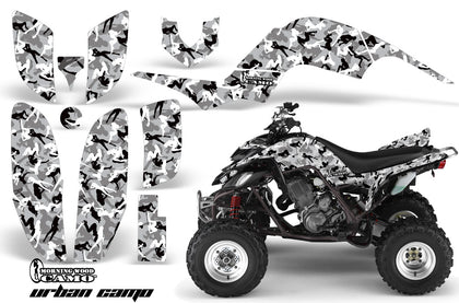 ATV Decal Graphics Kit Quad Sticker Wrap For Yamaha Raptor 660 2001-2005 URBAN CAMO WHITE