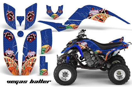ATV Decal Graphics Kit Quad Sticker Wrap For Yamaha Raptor 660 2001-2005 VEGAS BLUE