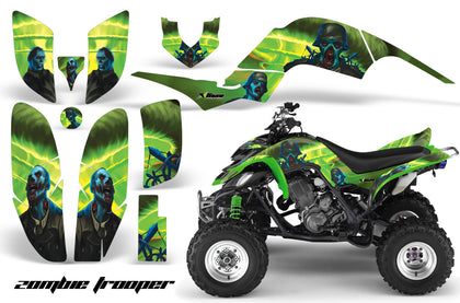 ATV Decal Graphics Kit Quad Sticker Wrap For Yamaha Raptor 660 2001-2005 ZOMBIE GREEN