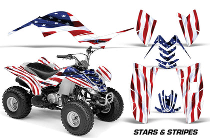 ATV Graphics Kit Quad Decal Sticker Wrap For Yamaha Raptor 80 2002-2008 USA FLAG-atv motorcycle utv parts accessories gear helmets jackets gloves pantsAll Terrain Depot