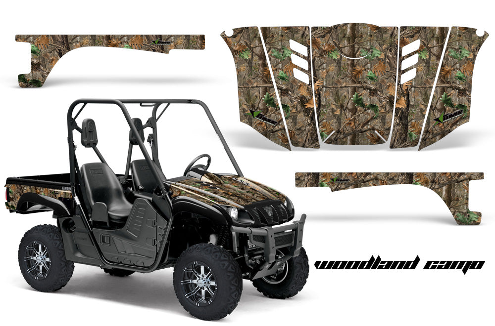 UTV Graphics Kit Decal Wrap For Yamaha Rhino 450/660/700 2004-2013 WOODLAND CAMO