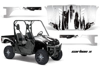 UTV Graphics Kit Decal Wrap For Yamaha Rhino 450/660/700 2004-2013 CARBONX WHITE
