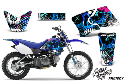 Dirt Bike Graphics Kit Decal Wrap For Yamaha TTR90 TTR90E 2000-2007 FRENZY BLUE