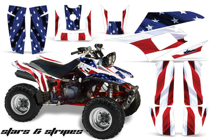 ATV Graphics Kit Quad Decal Wrap For Yamaha Warrior YFM350X 1987-2004 USA FLAG-atv motorcycle utv parts accessories gear helmets jackets gloves pantsAll Terrain Depot