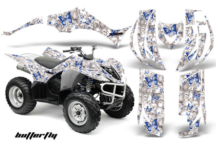 ATV Decal Graphic Kit Quad Sticker Wrap For Yamaha Wolverine 450 2006-2012 BUTTERFLIES BLUE WHITE