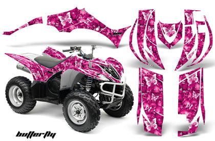 ATV Decal Graphic Kit Quad Sticker Wrap For Yamaha Wolverine 450 2006-2012 BUTTERFLIES WHITE PINK