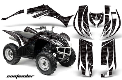 ATV Decal Graphic Kit Quad Sticker Wrap For Yamaha Wolverine 450 2006-2012 CONTENDER WHITE BLACK