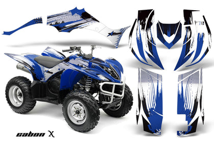 ATV Decal Graphic Kit Quad Sticker Wrap For Yamaha Wolverine 450 2006-2012 CARBONX BLUE