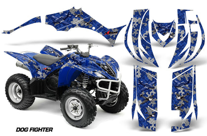 ATV Decal Graphic Kit Quad Sticker Wrap For Yamaha Wolverine 450 2006-2012 DOGFIGHT BLUE