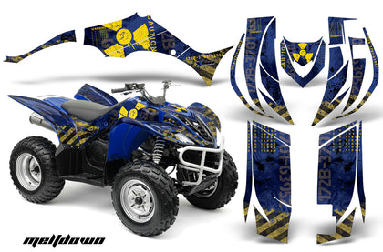 ATV Decal Graphic Kit Quad Sticker Wrap For Yamaha Wolverine 450 2006-2012 MELTDOWN YELLOW BLUE