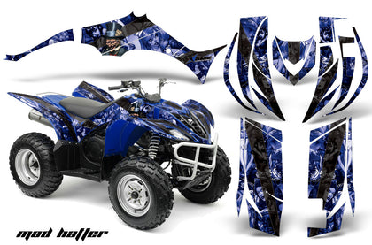 ATV Decal Graphic Kit Quad Sticker Wrap For Yamaha Wolverine 450 2006-2012 HATTER BLUE BLACK