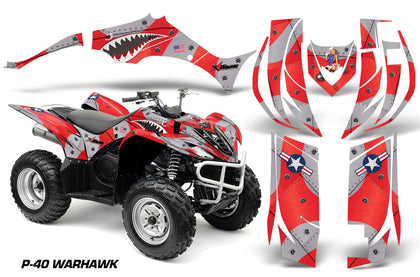 ATV Decal Graphic Kit Quad Sticker Wrap For Yamaha Wolverine 450 2006-2012 WARHAWK RED