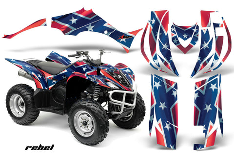 ATV Decal Graphic Kit Quad Sticker Wrap For Yamaha Wolverine 450 2006-2012 REBEL