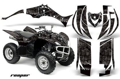 ATV Decal Graphic Kit Quad Sticker Wrap For Yamaha Wolverine 450 2006-2012 REAPER BLACK