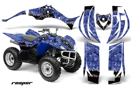 ATV Decal Graphic Kit Quad Sticker Wrap For Yamaha Wolverine 450 2006-2012 REAPER BLUE