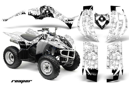 ATV Decal Graphic Kit Quad Sticker Wrap For Yamaha Wolverine 450 2006-2012 REAPER WHITE