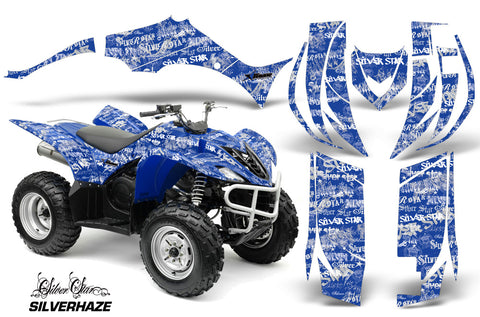 ATV Decal Graphic Kit Quad Sticker Wrap For Yamaha Wolverine 450 2006-2012 SSSH WHITE BLUE