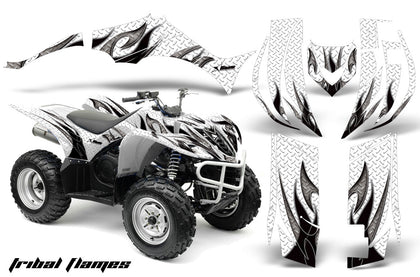 ATV Decal Graphic Kit Quad Sticker Wrap For Yamaha Wolverine 450 2006-2012 TRIBAL BLACK WHITE