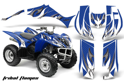 ATV Decal Graphic Kit Quad Sticker Wrap For Yamaha Wolverine 450 2006-2012 TRIBAL WHITE BLUE