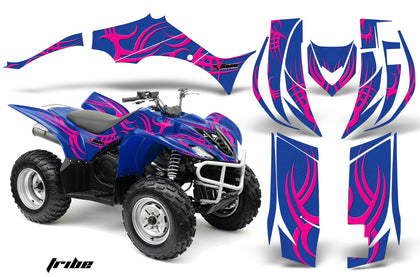 ATV Decal Graphic Kit Quad Sticker Wrap For Yamaha Wolverine 450 2006-2012 TRIBE PINK BLUE