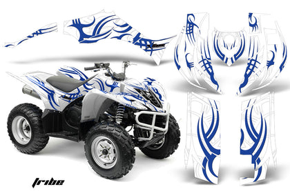 ATV Decal Graphic Kit Quad Sticker Wrap For Yamaha Wolverine 450 2006-2012 TRIBE WHITE BLUE