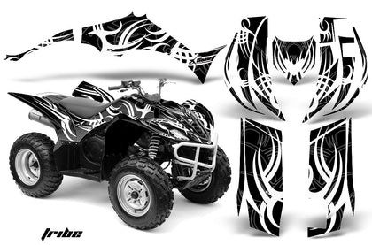 ATV Decal Graphic Kit Quad Sticker Wrap For Yamaha Wolverine 450 2006-2012 TRIBE BLACK WHITE
