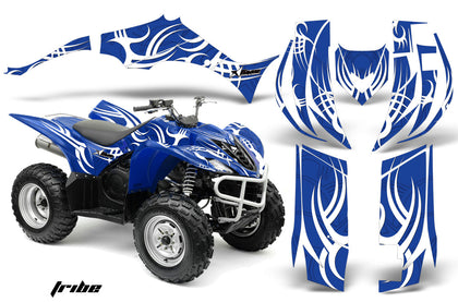 ATV Decal Graphic Kit Quad Sticker Wrap For Yamaha Wolverine 450 2006-2012 TRIBE BLUE WHITE