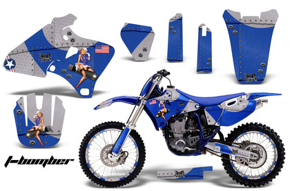Graphics Kit Decal Wrap + # Plates For Yamaha YZ 250F/400F/426F 1998-2002 TBOMBER BLUE