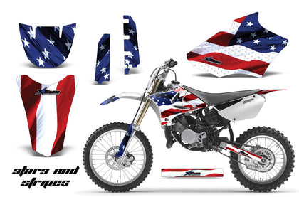 Dirt Bike Decal Graphics Kit MX Sticker Wrap For Yamaha YZ85 2002-2014 USA FLAG