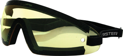BOBSTER WRAP AROUND SUNGLASSES BLACK W/YELLOW LENS BW201Y