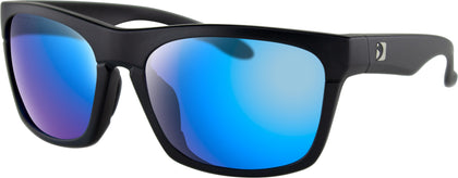 BOBSTER ROUTE SUNGLASSES MATTE BLACK W/PUR HD/LIGHT BLUE REVO MIRR BROU001H