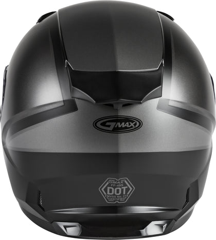 GMAX FF-49S FULL-FACE HAIL SNOW HELMET MATTE BLACK/GREY MD G2495505