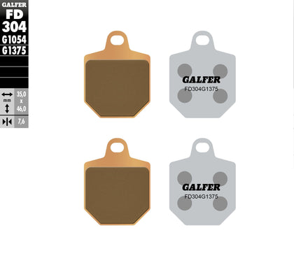 GALFER BRAKE PADS SINTERED CERAMIC FD304G1375 FD304G1375