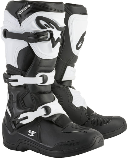 ALPINESTARS TECH 3 BOOTS BLACK/WHITE SZ 13 2013018-12-13
